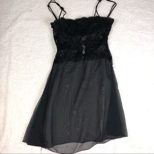 Black lingerie dress size small